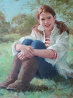 Annie 25 x30 -oil done from life