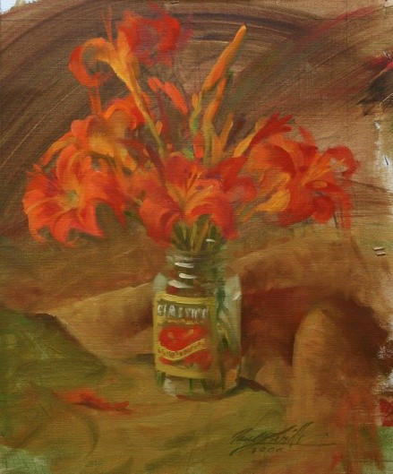 Daylillies – Oil -