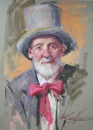 tophat – wyoming art league – pastel demo