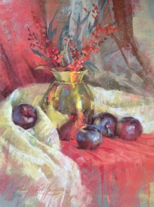 Brass & Plums 24x30 $2400